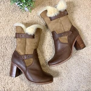 Jeffrey Campbell Shoes - Jeffrey Campbell IBIZA Leather Fur Lined Boots